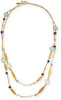 Sequin Long Multicolored Beaded Station Necklace