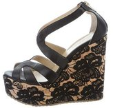 Jimmy Choo Parrow Wedge Sandals