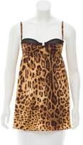 Dolce & Gabbana Leopard Print Satin Top
