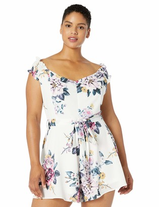City Chic Women's Apparel Women's Plus Size Playsuit MID Summer X-Small