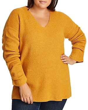 1.state Plus V-Neck Sweater