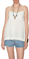 Free People Blackbird Embroidered Top