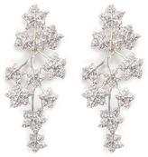 Kenneth Jay Lane Glass crystal leaf drop clip earrings