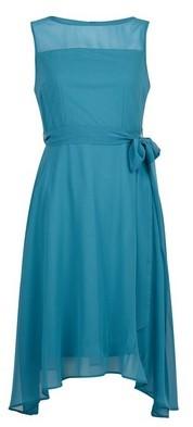 Dorothy Perkins Womens **Billie & Blossom Petite Teal Blue Hanky Hem Dress, Blue