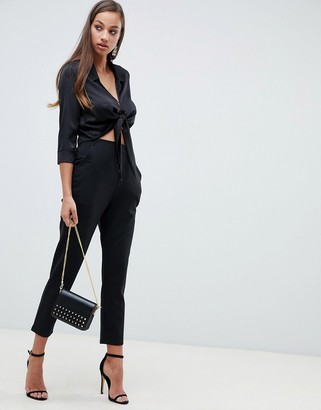 ASOS DESIGN basic jersey smart skinny pants in ponte