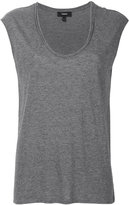 Theory scoop neck top - women - Cotton/Modal - XS