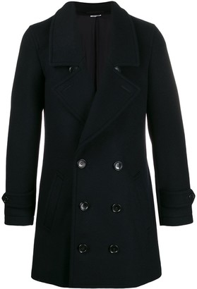 Comme des Garcons Double-Breasted Mid-Length Coat