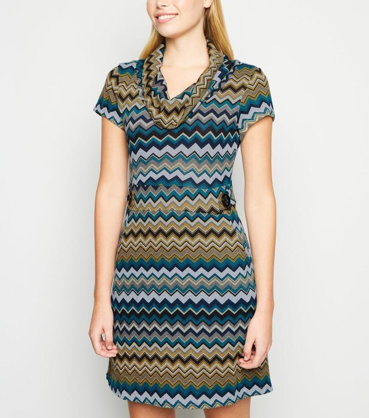 New Look Chevron Stripe Bodycon Dress