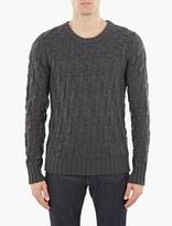 S.n.s. Herning Petrol Blue Digital Weave Sweater