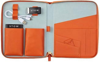 Stow First Class Leather Tech Case