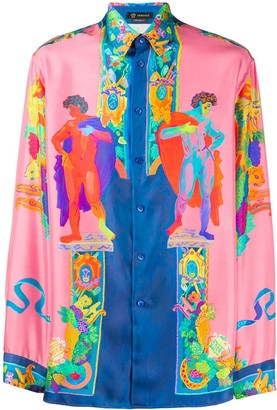 Versace Greek statue printed shirt