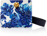 Tory Burch Dexter Embroidered Clutch