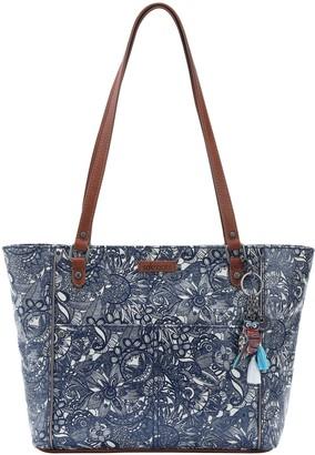 The Sak Sakroots Medium Tote Handbag with Critter Keychain