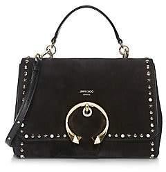 Jimmy Choo Women's Madeline Studded Suede Top Handle Bag