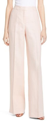 Lafayette 148 New York Dalton Wide Leg Linen Pants
