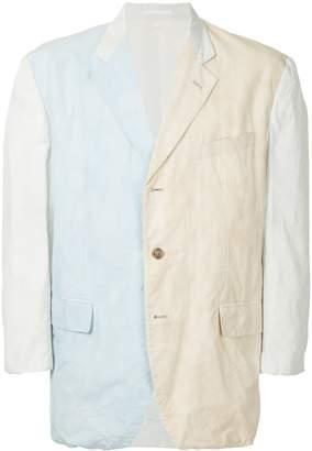 Comme des Garcons Pre-Owned colour block blazer