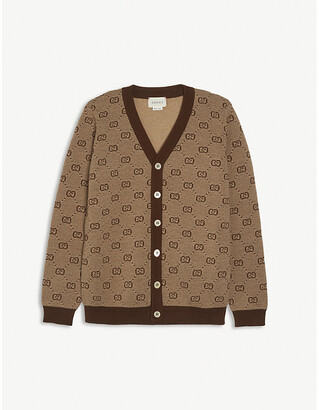 Gucci GG branded wool-blend cardigan 4-12 years