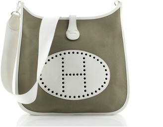 Hermes Evelyne Bag Gen I Toile and Leather GM