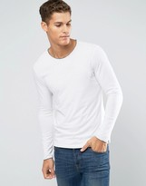 Sisley Long Sleeve T-Shirt with Raw Neck