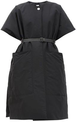 Burberry Waxham Padded Cotton-blend Poncho - Black