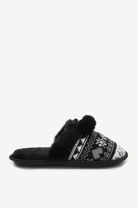 Ardene Fair Isle Slide Slippers