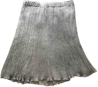 P.A.R.O.S.H. Beige Silk Skirt for Women