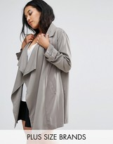 Missguided Plus Waterfall Trench