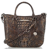 Brahmin Melbourne Collection Small Lena Crocodile-Embossed Tote