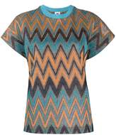 M Missoni Zig-Zag Pattern Knitted Top