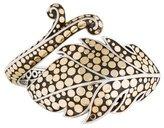 John Hardy Two-Tone Leaf Hinged Cuff Bracelet