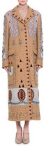 Valentino Embellished Long Wool Coat, Multi