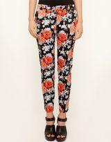 Bardot Skinny Crop Floral Pants