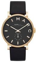 Marc Jacobs Women's 'Baker' Leather Strap Watch, 37Mm