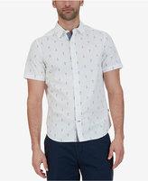 Nautica Men's Classic-Fit Anchor-Print Short-Sleeve Shirt