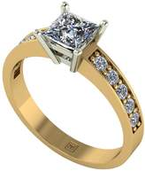 Moissanite Premier Collection 9ct Gold 1.05ct Total Princess Cut Solitaire Ring