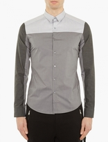 Wooyoungmi Grey Panelled Cotton Shirt