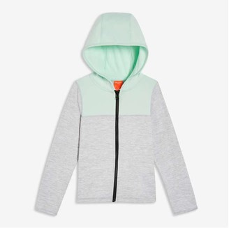 Joe Fresh Kid Girls' Colour Block Hoodie, Light Grey (Size XL)