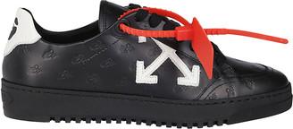 Off-White Black Leather Monogram Arrow 2.0 Sneakers
