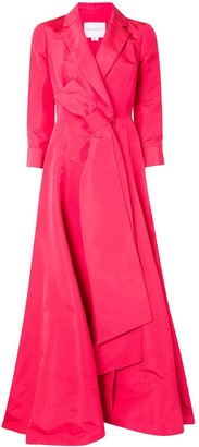 Carolina Herrera A-line trench gown dress