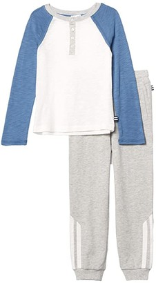 Splendid Littles Raglan Henley Top Set (Toddler/Little Kids/Big Kids) (Twilight) Boy's Active Sets