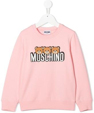 MOSCHINO BAMBINO Bears Logo Sweater