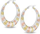 Steel By Design Steel by Design Tri-Color Hoop Earrings