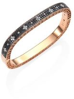 Roberto Coin Princess Diamond & 18K Rose Gold Bangle Bracelet