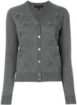 Marc Jacobs bow embroidered cardigan - women - Wool - M