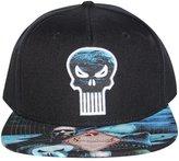 Bioworld Men's Licensed Punisher - Extreme Sublimated Brim Snapback Hat O/S Black