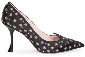 Roger Vivier I Love Vivier Mini Stars Embellished Satin Pumps
