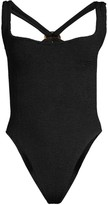 Hunza G Zora Rib-Knit One-Piece Swimsuit