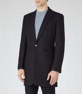 Reiss Reiss Duke - Peak Lapel Coat In Black