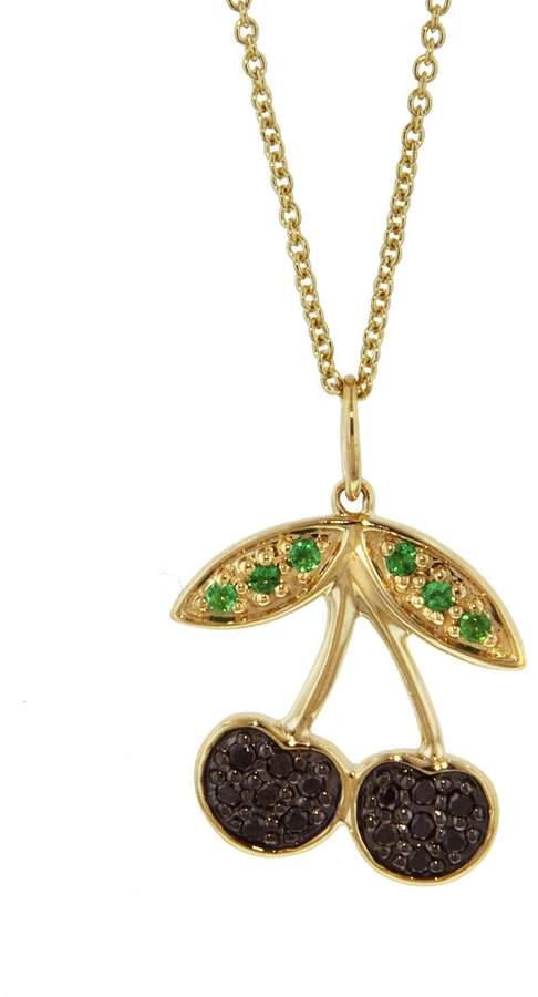 Sydney Evan Cherry Charm Necklace