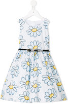 MonnaLisa daisy print dress - kids - Cotton/Polyamide - 2 yrs